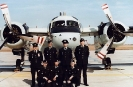 Contingent from 420 ARS Shearwater in attendance for the change of command parade, led by CWO R. Jackson, back left.
