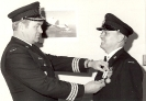 LCol. R.L.Hughes presents the Jubilee Medal to WO R.J. Beard.