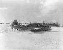 Belly landing on de Said Lake. Pilot Lt. Jerry MacMillan & observer CPO Bob